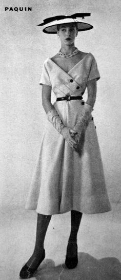 Vogue US - 1950's - Design by Paquin - @~ Watsonette
