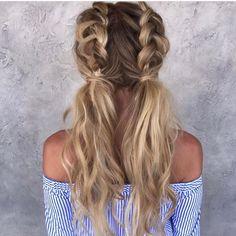 Half Dutch braided pigtails #ad