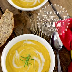 Best Butternut Squash Soup Recipe - I added a chopped onion, a couple minced cloves of garlic and some sage when I roasted the squash.