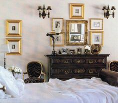 White antique bedroom