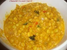 Ramblings of Praveena: Chanadal Coconut Curry/ Pappula kura