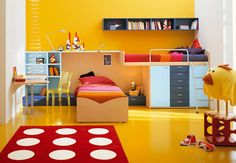 super in love with all the funky kid room ideas here
