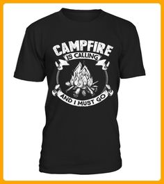 Best CAMPSITE IS CALLING CAMPING SHIRTS front Shirt - Camping shirts (*Partner-Link)