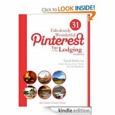 Have you checked out our book on Amazon.com? 31 Fabulously Wonderful Pinterest Tips for the Lodging Industry eBook: Julie Gallaher, Jeannie Hanson, Trey Mudge: Kindle Store