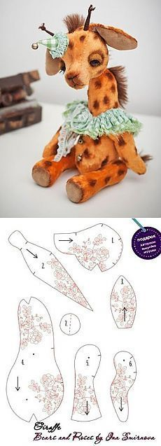 Ideas Sewing Patterns Toy Teddy Bears For 2019 Sewing Stuffed Animals, Stuffed Animal Patterns, Fabric Animals, Felt Animals, Baby Animals, Softies, Plushies, Doll Patterns, Sewing Patterns
