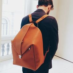 Brown+Leather+Backpack