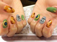 Nail Art - Beetle Nail : arte|べっこうネイル