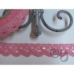 Häkelspitze selbstklebend rosa