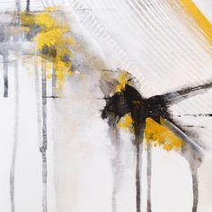 "Annie Noa contemporary painting ""Cloud"", details. Modern minimalistic art. Gold and black. Acrylics on canvas. 90x90cm. instagram.com/theannienoa"