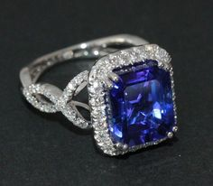 Tanzanite Ring - Beautiful. Probably worth a small fortune...that's the ultimate coloring