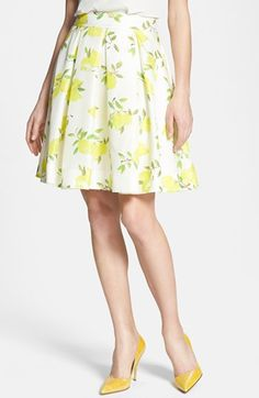 kate spade new york 'owen' print silk skirt available at #Nordstrom