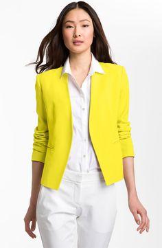 Veste habillee femme jaune