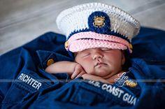 Coast Guard baby USCG dress blues United by conniemariepfost, $35.00
