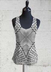 Printed Racerback Top - Retro Bw Racerback in Black/Grey/White by VIDA Original Artist Daily Yoga, Yoga Session, White Tank, Grey And White, Lounge Wear, Crochet Top, How To Make, How To Wear, Retro