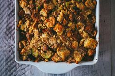 The Best Cornbread Stuffing | #thanksgiving