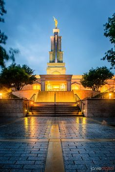San Antonio Temple after Rain
