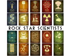 Science Art Isaac Newton 11x14, Astronomy Art Print Poster, Steampunk Art, Rock Star Scientist, Geek Art, Office Decor. $28.00, via Etsy.