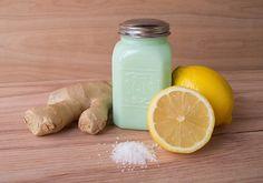DIY Lemon ginger body scrub.