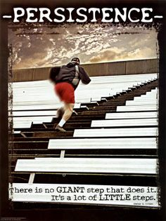 All it takes is one little step and the next thing you know, you're taking many steps to your goal.