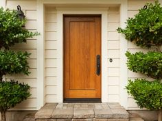 The Pros and Cons of a Wood Front Door >> http://www.diynetwork.com/how-to/rooms-and-spaces/doors-and-windows/the-pros-and-cons-of-a-wood-front-door?soc=pinterest