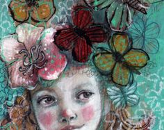 Marvel Dream-  Fine Art Reproducion Block by Maria Pace-Wynters
