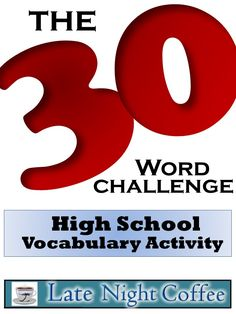 High School Vocabulary Activity-The Challenge Grades This high school vocabulary activity helps to make learning high-level words more meaningful and enjoyable. Advanced Vocabulary, Vocabulary Instruction, Teaching Vocabulary, Vocabulary Activities, Student Teaching, Vocabulary Strategies, Teaching Ideas, Creative Teaching, Learning Resources