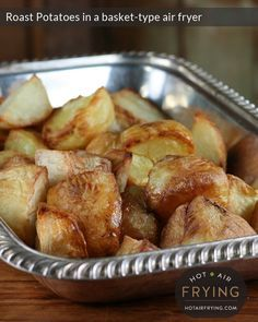 Roast potatoes in a basket air fryer