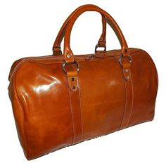 I Medici of Florence Tuscan Italian Leather Carry-on Duffel Mens Travel Bag, Travel Luggage, Laptop Shoulder Bag, Shoulder Strap, Airline Carry On Size, Computer Bags, Day Bag, Vintage Italian, Duffel Bag