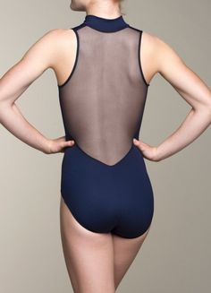 Zip Front Leotard w/ Mesh ~ Feeling glamorous? Try our lovely Zip Front leotard with a mesh back that's barely there! The Zip Front leotard does not have a lining but you can feel secure in this gorgeous buttery fabric. The back is made of super stretchy mesh. The 17″ sipper runs full length in the front. www.ainsliewear.com