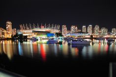 Vancouver at night by Creekside
