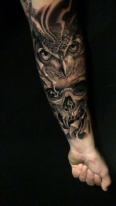 Owl and skull tattoo I did in fayetteville NC tattoo mann Tattoo, Tattoo Shop Near Me, Tattoos Fayetteville NC, JoanZunigaTattoo Skull Sleeve Tattoos, Best Sleeve Tattoos, Tattoo Sleeve Designs, Tattoo Designs Men, Pirate Tattoo Sleeve, Hand Tattoos For Men, Best Tattoos For Men, Owl Skull Tattoos, Mexican Skull Tattoos