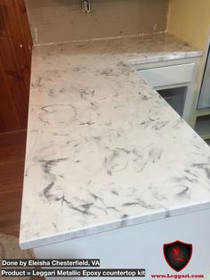 This Countertop Was Coated Leggari Products Diy Metallic Epoxy Resurfacing Kit