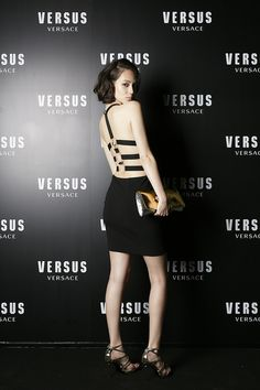 Official photo of Kiko Mizuhara at the opening party of Versus Versace's flagship store in Aoyama, Tokyo last May Beautiful Models, Beautiful People, Kiko Mizuhara Style, Versus Versace, Japanese Fashion, Asian Beauty, Female Models, High Fashion, Fashion Photography