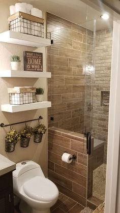 Life-changing bathroom remodel ideas for small spaces Looking to update your bathroom? Check out these affordable small bathroom remodel ideas and designs. Get inspired for your next home remodeling project. Bathroom Design Small, Bathroom Interior Design, Small Bathroom Ideas On A Budget, Small Bathroom Decorating, Decor For Small Spaces, Small Rustic Bathrooms, Small Bathroom Shelves, Tiny Bathrooms, Bathroom Layout