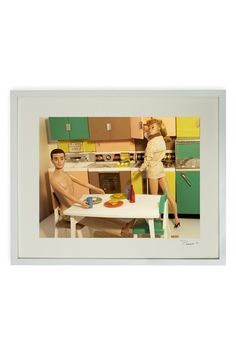 """Hand-signed Snack Time Framed Print - 17"""" W x 21"""" L x 1.5"""" D by Barbie and Ken Hand-signed Art on @HauteLook"""