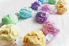 Pastel Rainbow Ice Cream Bracelets by Cateaclysmic on DeviantArt