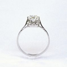 Platinum six claw vintage solitaire engagement ring set with a 0.70ct round brilliant cut diamond.  Estimated Replacement Value:  $5,600  Estate Sale Price:  $2,800 Estate Engagement Ring, Solitaire Engagement, Wedding Expenses, Jewelry Stores, Stuff To Buy, Vintage, Enagement Rings, Vintage Comics, Primitive