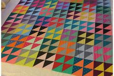 Seeing as how I was well ahead of the game making quilt tops for the Siblings Together charity, it goes without saying really that now I am . Quilt Block Patterns, Pattern Blocks, Quilt Blocks, Half Square Triangle Quilts, Square Quilt, Bright Quilts, Bar, Quilt Top, Quilt Making