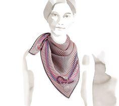2014 F/W | Cheval Mirage | Vintage silk twill scarf (70 cm x 70 cm) | Ref. H982904S 23