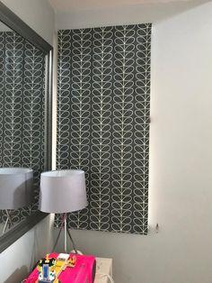Orla Kiely Cool Grey Linear Orla Kiely, Pattern Fashion, Improve Yourself, Cotton Fabric, Bathroom, Grey, Design, Home Decor, Washroom