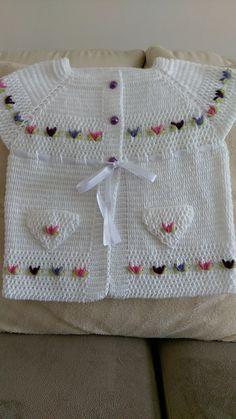 Hanım Crochet Baby, Knit Crochet, Crochet Clothes, Crochet Flowers, Baby Dress, Babys, Kids Outfits, Embroidery, Knitting
