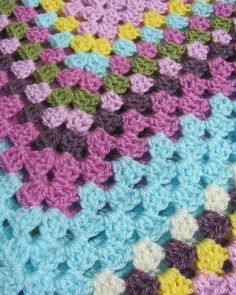 Crochet Blanket pastel colours baby blanket crochet by FERNandSAL