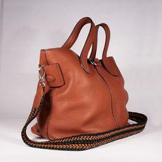 Tods Designer Handbag Brown Satchel (TD1734)