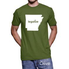#Arkansas Legalize Pot Men's T-Shirt #PotTeez