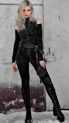 Gothic Outfits, Edgy Outfits, Cool Outfits, Fashion Outfits, Gothic Fashion, Girl Fashion, Prity Girl, Star Wars Outfits, Looks Black