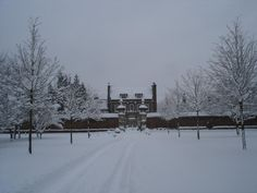Downton Abbey: The Dowager Lady Violets House in the Snow....(Byfleet Manor)