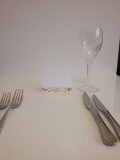 Yellow and grey placecards with a gold aluminum by StampedbyJayne, £1.90