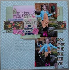 Scrapbook Starting Points :: Subtle Patterned Backgrounds - Craft Life: Mickey Mouse's House....