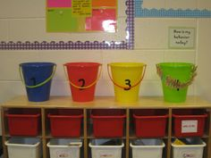 """Turn it into positive classroom by making these the group management. Each time a group gets ready first or works silently, reward them by adding a """"sea shell"""" to their bucket. When it's full, the whole group gets a reward. (i.e. extra time on the iPads/computer or free reading time)"""