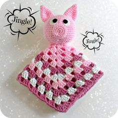 Baby Piggie Security Blanket by EternalLightShop on Etsy, $25.00
